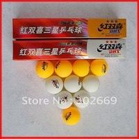 DHS Table Tennis Balls 40mm Three Stars International Table Tennis Balls Free Shipping 30pcs/lot