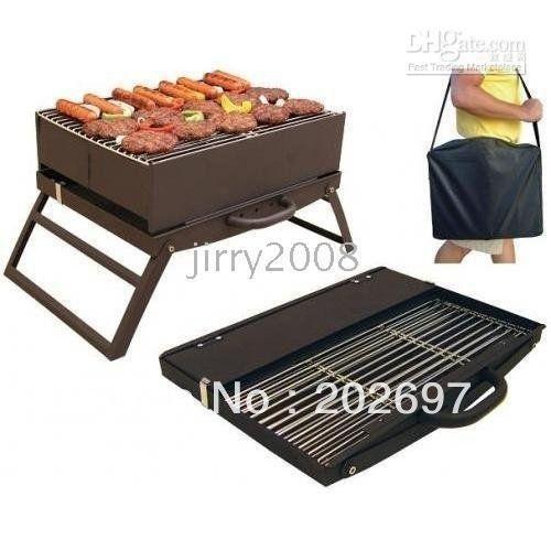 Portable pliant camping barbecue charbon barbecue grill - Barbecue portatif charbon ...