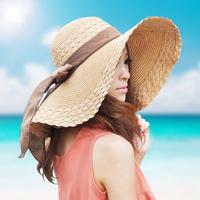 Wholesale / retail papyrus woven fashion women's summer's hat ladies wide brim straw beach sun hat/summer hat sunbonnet strawhat