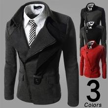HANG / 2014 autumn/winter fashion new men leisure jacket coats / Men's casual cardigan inclined zipper jackets coat(China (Mainland))
