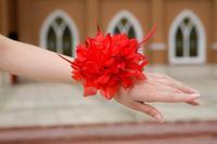 wedding headdress Bride and brides maid hair feather flower wrist flower hair clip corsage DIY accessories Decoration Artificial