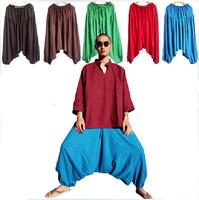 Fashion men's large crotch pants ,harem pants ,plus size sport pants,dancing trousers,casual trousers