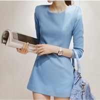 Autumn women woolen slim basic gentlewomen  elegant long-sleeve dress