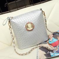 2014 women's vintage knitted bucket bag chain bag messenger bag small cross-body bag women's handbag