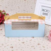 Packaging cake box moon cake box gift box biscuit box blue mug-up packaging box
