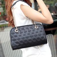 2014 fashion vintage plaid women's bags chain bag portable women's cross-body shoulder bag handbag