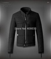 2014 New fashion winter cotton-padded clothes brand DSQ men short jacket designer D2 warm high quality coat for men