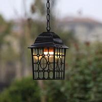 Outdoor led vintage pendant light garden balcony decoration ceiling lights  droplight led bulbs e27