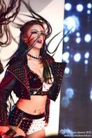 Female Newly Fashion Black and White Sexy DJ Punk Rivet costumes set nightclub Singer stage bodysuit
