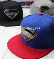 2014 New Fashion S Superman Hip-hop Baseball Cap Adjustable Snapback Unisex metal logo Superman