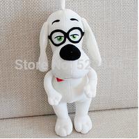 30cm Glasses dog plush toy doll cloth doll mr . peabody boy