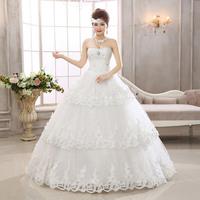 2014 New Arrival Off The Shoulder Organza Floor Length Wedding Dress HS566