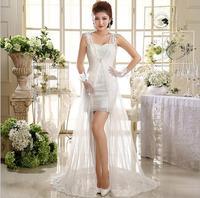 2014 New Arrival Elegant Luxurious Bridal Short Mermaid Wedding Dress HS601