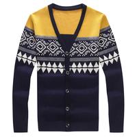 2014 New Arrival Autumn V-neck Mens Sweaters Fashion Cotton Wool Cardigan Men Plus Size 4XL 5XL Sweater Man