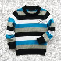 2014 brand new baby boy sweater children knit stripe round neck pullovers for children winter