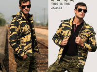 Men jacket outerwear ver5 Camouflage jacket outdoor casual military outerwear short design winter jacket men