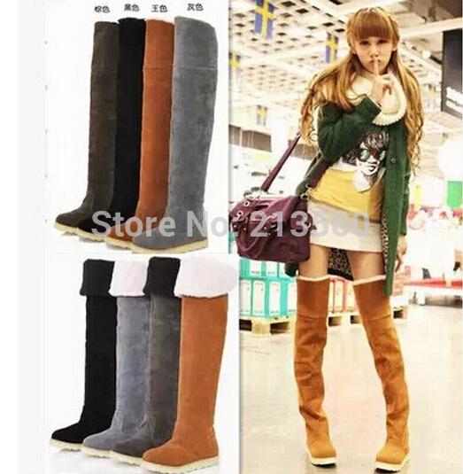 2015 winter thick warm Waterproof Taiwan snow boots flat heel women / Free