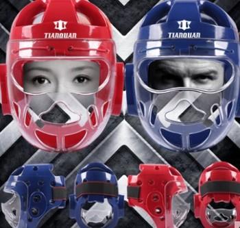 Взрослый ребенок тхэквондо защиты головы маска защиты головы шлем полностью защитить голову и лицо международный стандарт