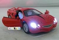 New Arrival World Famous Sports Car Model High Imitation Japanese Orochi Car Acoustooptical Warrior Alloy Car Toy Free Shipping