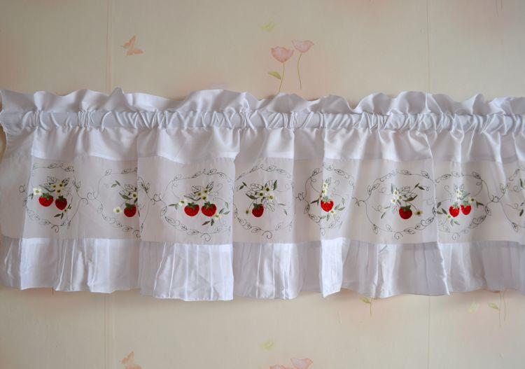 Dulce fresa cortina cortina de la cocina de la colmena del pequeño ...