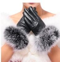 2014 Fall Fashion Women's Genuine Leather Sheepskin Leather Winter Gloves Women Gloves