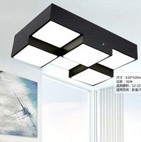 4/6/9/12/16 Light Modern Brief Rectangle Ceiling Light square LED Ceiling Light  Dimming Ceiling Lamp 220V Use