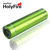 Holyfire green purple 2 color women 9cm mini portable LED Flashlight aluminum alloy torches 2014 cheap