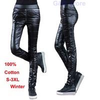 2014 Winter Fashion Slim Women PU Pants Plus Mercerized Cotton 100% Velvet Big Size Thickening Shiny Leather Trousers Keep Warm