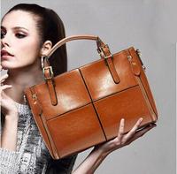 Hot women leather handbag 2015 women handbag fashion tote vintage bag crossbody bolsas shoulder bag brand women messenger bag