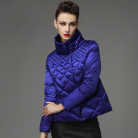 2014 new fashion short down jacket women's stand collar white duck down coats&jackets winter brand casual parka