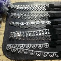 new arrivel lady women's elastic headband sequins hair band fashion black & silver color cheap hair wear hair accessories