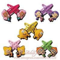 Hot Cartoon Logo,5pairs/lot  Bubble Guppies Cute Baby Girls Kids Hair Band/ Hair Clips/ Hair Accessories,Kids Christmas Gift