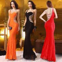 2015 New Open Back Slim With Beading Crystals Sexy Vestido De Festa Robe De Soiree Gown Evening Dress