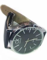Free shipping, fashion business casual men's leather watch quartz watch