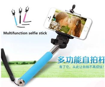 2015 pau de selfie extendable palo selfie stick handheld monopod clip holder. Black Bedroom Furniture Sets. Home Design Ideas
