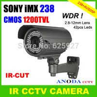 Security System CCTV Camera SONY IMX238 + AVS05P Super WDR CMOS 1200TVL 2.8-12mm Varifocal Lens IR-CUT OSD Menu For Outdoor