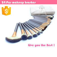 24pcs Horse Hair Professional Makeup Brushes Cosmetic Brush Set Brushes Tools Set Kits with Bag