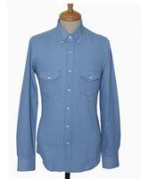 2014 Autumn High Quality Men's Supply Slim Fit tide couple long-sleeved shirt men's shirts wild cowboy shirt  Ry13