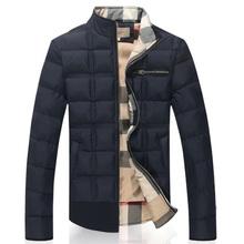 2014 New Fashion Men  Winter jacket Fashion plus velvet jacket Personalized wild cotton coat collar down jacket 8N041(China (Mainland))