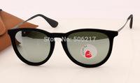 Top quality 2015 new 100% UV original rb 4171 erika velvet polarized sunglasses black mirror polarized glasses 6075/6G 55mm