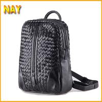 Women Backpacks Designer Brand Woven Backpack Hiking Backpacks Women's Genuine Leather Black School Laptop Bag