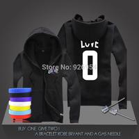 New Kevin Love #0  Basketball Super Star Hoodies Cavalier Sport Sweatshirt Men Zipper Hooded Cardigan Training Long-sleeved Tops
