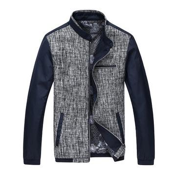 Лоскутная дизайн мужчины свободного покроя сельма пальто большой размер M-3XL новое ...