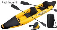 Pathfinder II inflatable 2 preson boat sport boat 376*77*34CM, 221cm Alumnium oars, foot pump, repair kit.kayak,canoe,sport boat