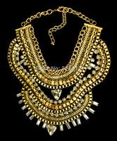 New Bold and big fashion flashing snake shaped pendant choker necklace with rhinestone arabic gold chain necklace Free shipping