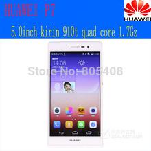 Original Huawei Ascend P7 Mobile Phone Kirin 910T Quad Core Android Smartphone 2GB RAM 16GB ROM 5.0 Inch FHD 13.0MP Camera 4G