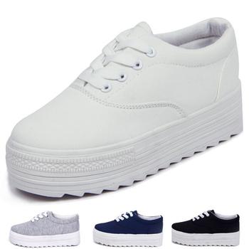 2015 Новая весна Спортивная обувь повседневная женские кроссовки белого цвета черного ...