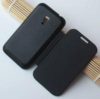 Flip Leather Back Cover Battery Housing Case For Samsung Galaxy Ace Plus S7500 7500 Mobile Phone Cases