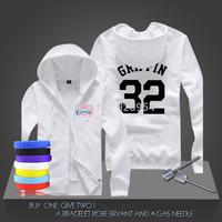 New Blake Griffin #32  Basketball Super Star Hoodies Clippers Sweatshirt Men Zipper Hooded Cardigan Training Long-sleeved Tops