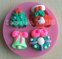 Beautiful Christmas Series Products 3D Silicone Cake Molds Tools Cooking Tools-C394